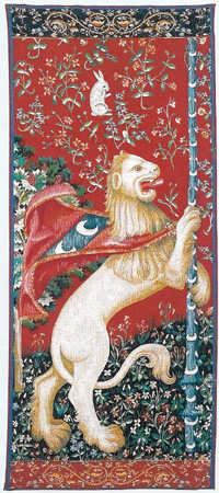 LION PORTIERE TAPESTRY WALL HANGING