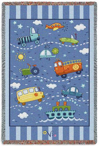 Little Boy's Toys Mini Tapestry Throw, 34in x 53in