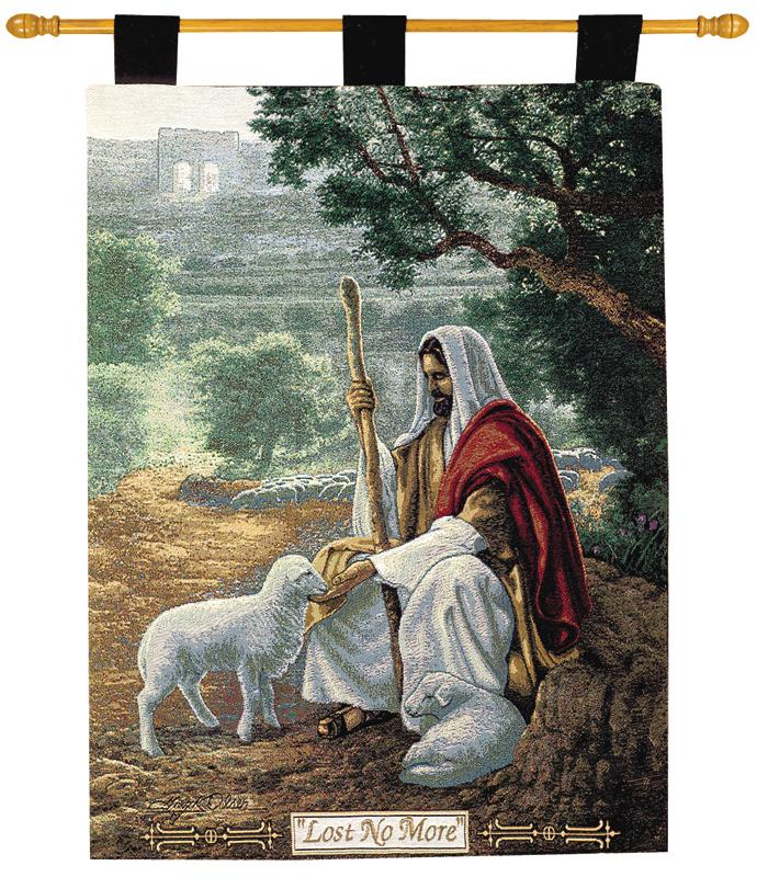 Lost No More Tapestry Wall Hanging - Religious Picture, 26in X 36in
