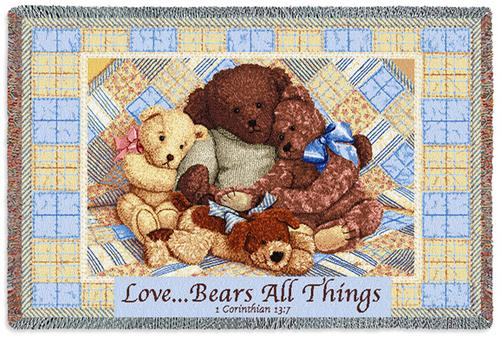 Love Bears Tapestry Throw, 53in x 34in