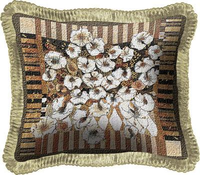 Love Letters Modern Tapestry Cushion - Floral Stillife, 17in x 17in