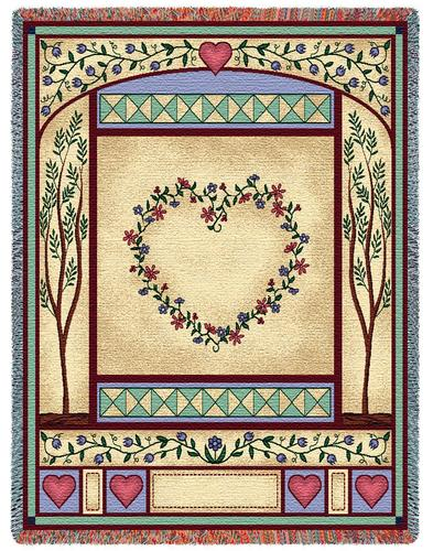 Love Quilt Tapestry Throw, 53in x 70in