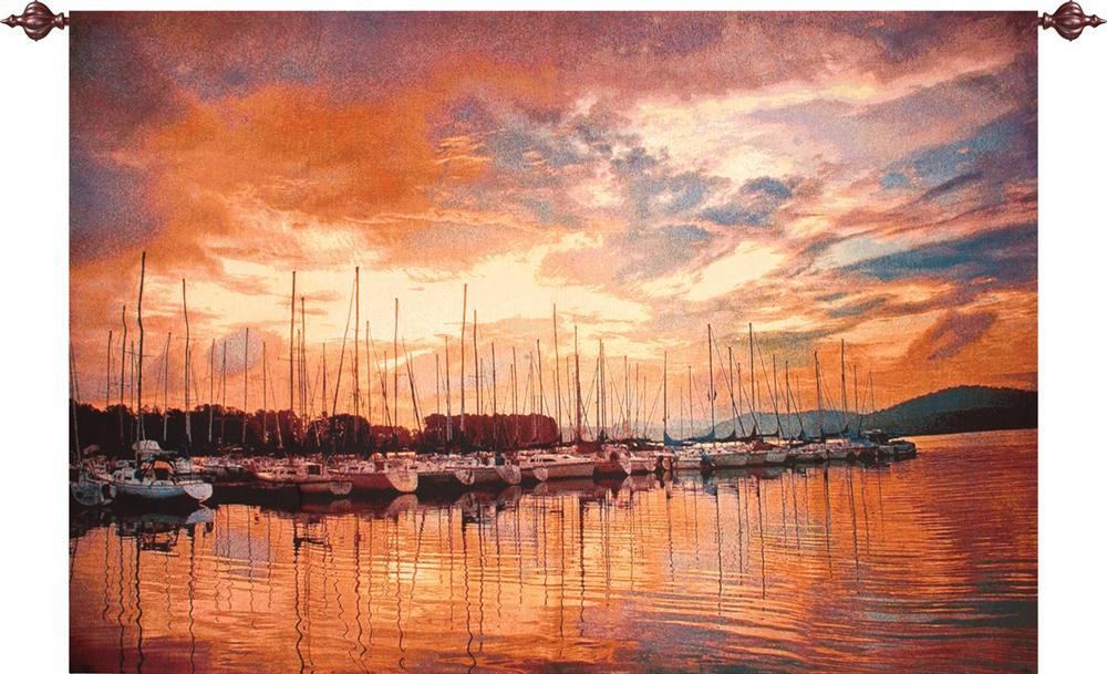 Marina Sunrise Tapestry Wall Hanging, H70in x W50in