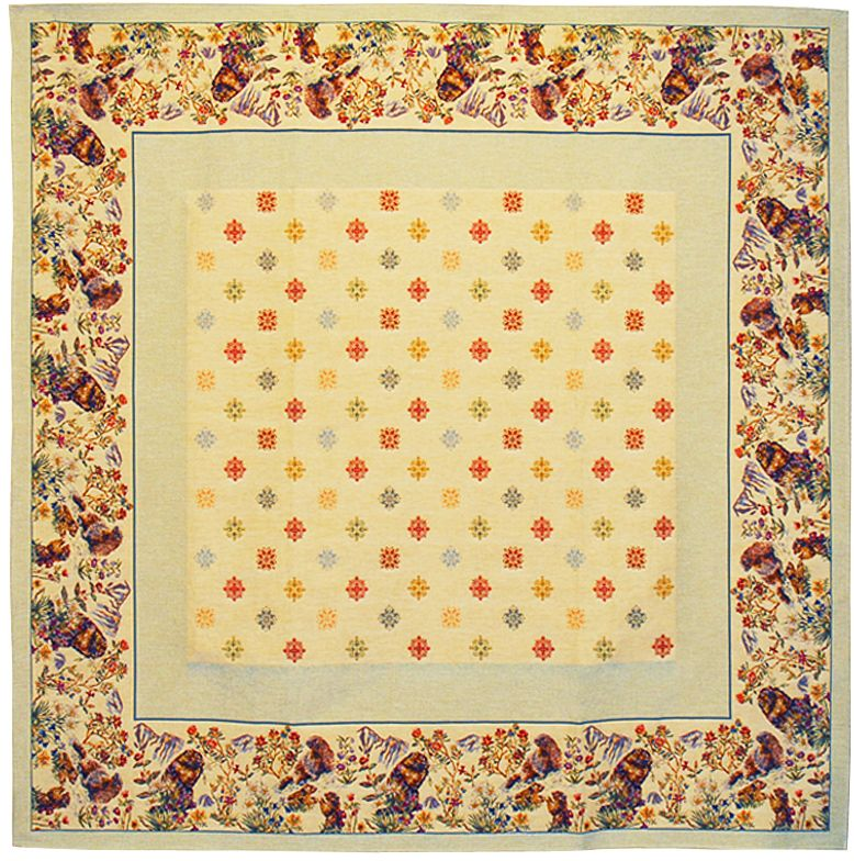 Marmottes Tapestry Throw - European Home Decor Collection, 57in x 57in
