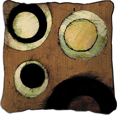 Martini Cocktail Contemporary Tapestry Cushion - Wine Collage, 17in x 17in