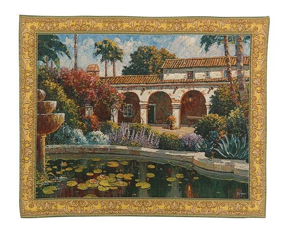 Mission Reflection Tapestry Italian Landscape, 37in x 47in