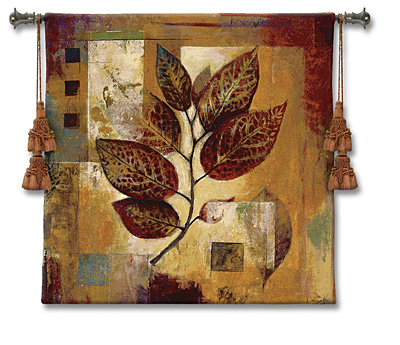 Modernist Autumn Dougall Modern Tapestry Fine Art Picture, 35in x 35in