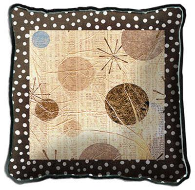 Mondo Dotz I Contemporary Tapestry Cushion - Geometric Design, 17in x 17in