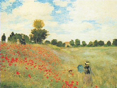 Monet's Poppies Tapestry Wall Hanging, 35in x 55in