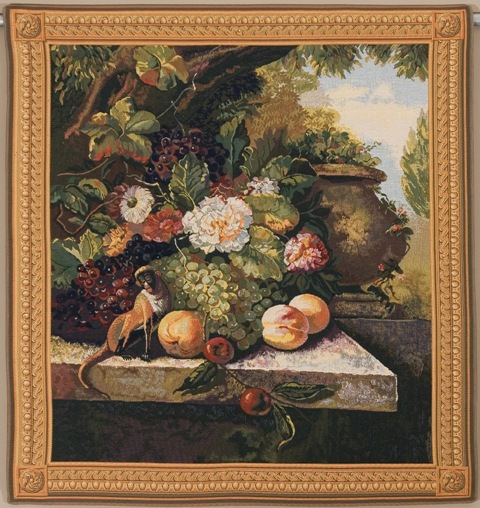 Monkey In Still Life I Tapestry Wall Hanging, 39in x 57in