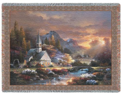 Morning of Hope Tapestry Throw, 53in x 70in