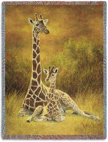Mother and Son Tapestry Throw, 53in x 70in