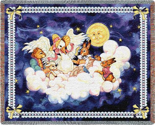 Mother Goose Tapestry Throw, 54in x 50in