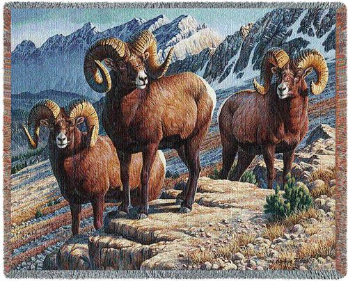 Mountain Monarchs Tapestry Throw, 70in x 53in