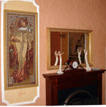 Mucha's Autumn Tapestry  In Classic Interior Style