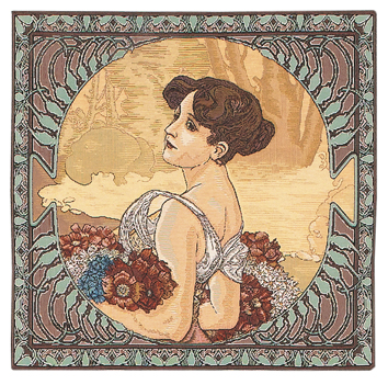 Mucha Summer Cushion Cover, 18in x 18in