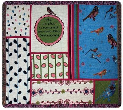 Multiple Blessings Tapesty Throw, 60in x 50in