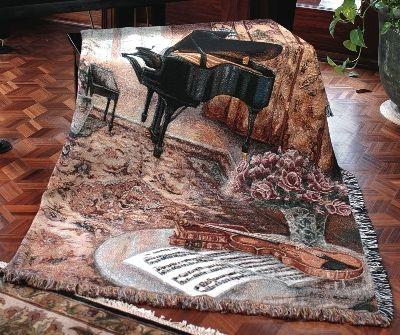 Music Room Tapesty Throw, 51in x 68in