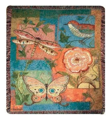 Nature Brights Tapesty Throw, 50in x 60in