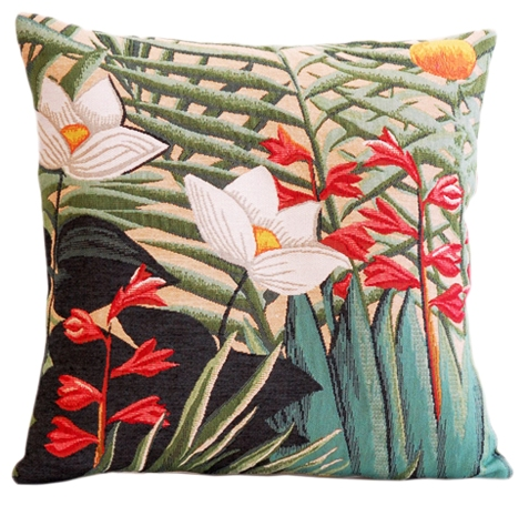 Nenuphar Tapestry Cushion Cover - European Home Decor Collection, 18in x 18in cushion cover