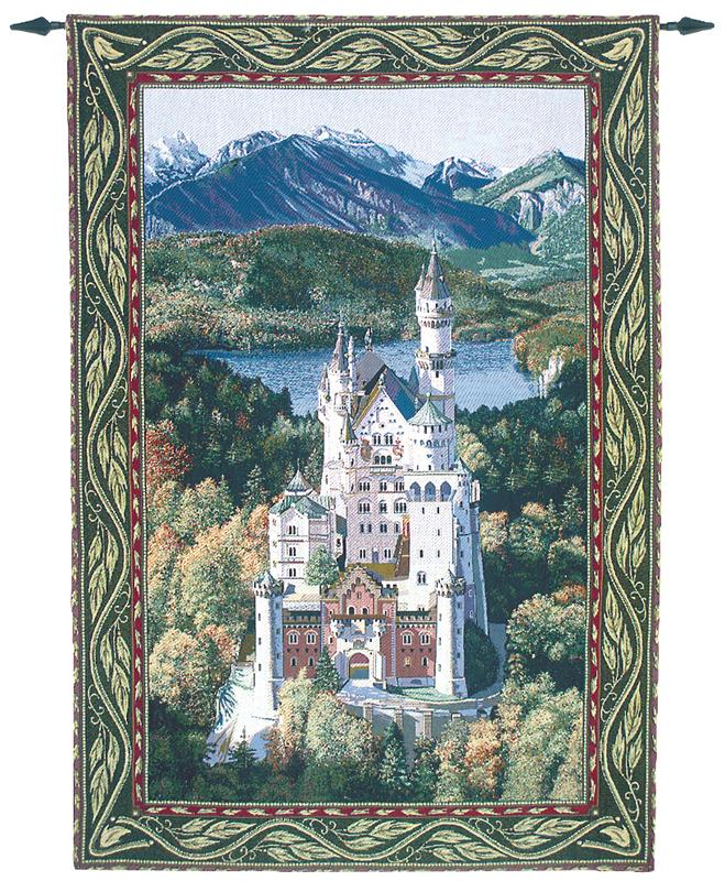 Neuschwanstein Castle Large Tapestry Wall Hanging H80 X W56