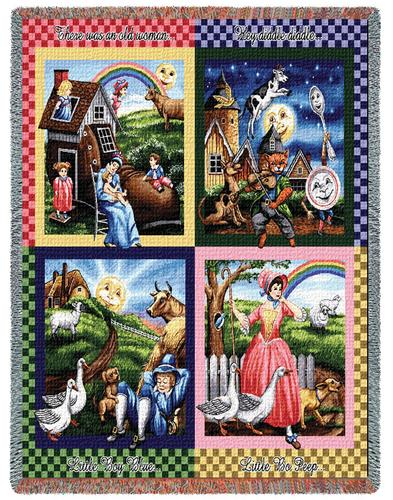 Nursery Rhymes Tapestry Throw, 54in x 60in