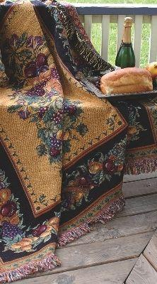 Old World Italy Tapesty Throw, 51in x 68in