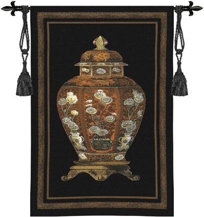 Oriental Jar I Tapestry Wall Hanging, 25in x 36in