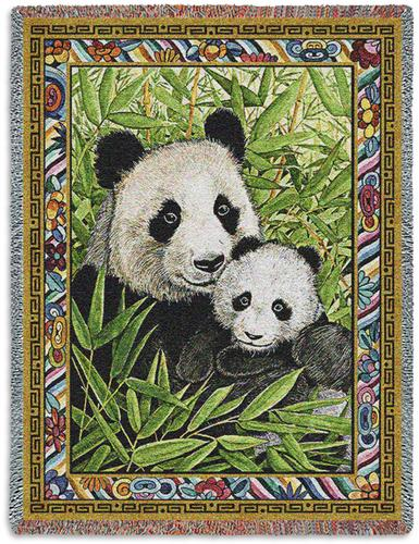 Panda Tapestry Throw, 53in x 70in