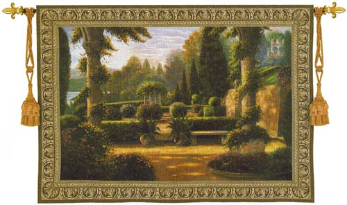Parterre De La Vierge Wall Tapestry - Beautiful Garden Picture, 53in x 40in