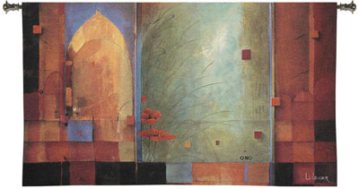 Passage to India Modern Tapestry Fine Art Picture, 53in x 32in