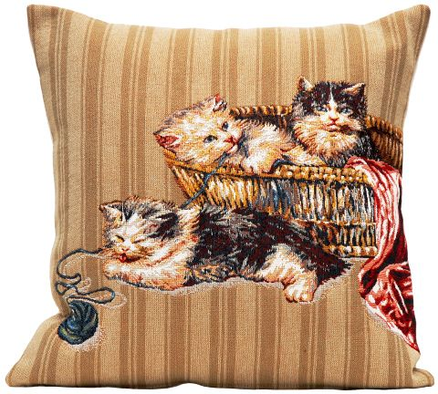 Pelotte Tapestry Cushion Cover - Pets Home Decor Collection, 18in x 18in cushion cover