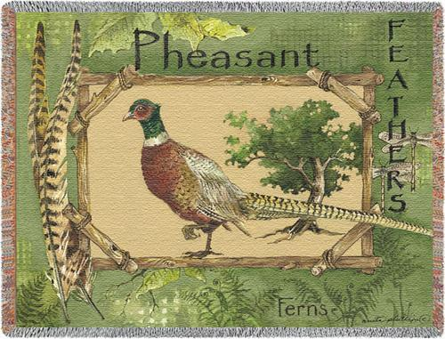 Pheasant Feathers Tapestry Throw, 53in x 70in