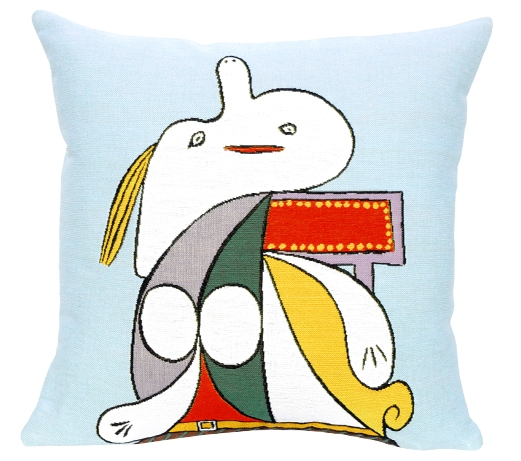 Picasso's La Ceinture Juane Tapestry Cushion Cover - European Home Decor Collection, 18in x 18in cushion cover