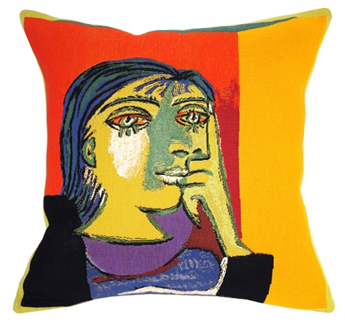 Picasso's Portrait De Dora Maar Tapestry Cushion Cover - European Home Decor Collection, 18in x 18in cushion cover