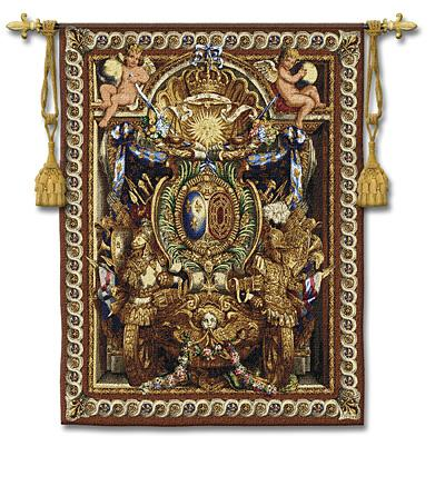 Portiere du Char Renaissance Wall Tapestry - Ornamental Design, 40in x 53in