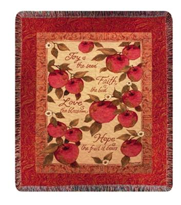 Praise Fruit Tapesty Throw, 50in x 60in