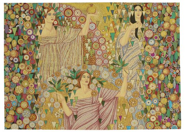 Primavera Tapestry Wall Hanging - European Home Decor Collection, 37in x 52in