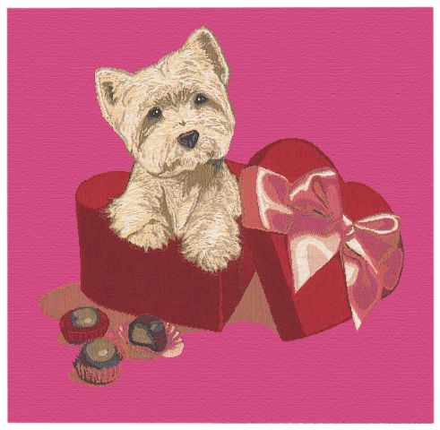 Puppy Love Cushion Cover, 18in x 18in