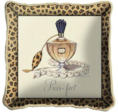 Purrfect Contemporary Tapestry Cushion - Fashion Design, 17in x 17in