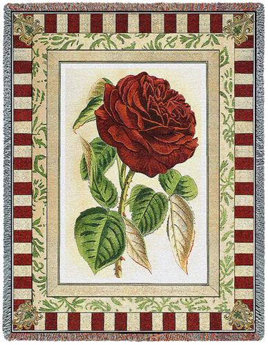 Red Rose I Tapestry Throw, 54in x 70in