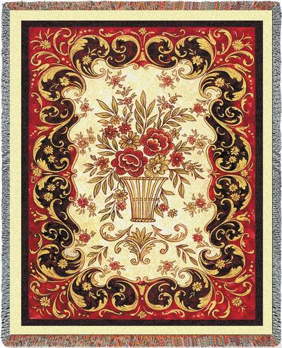 Red Tapestry Tapestry Throw, 54in x 70in