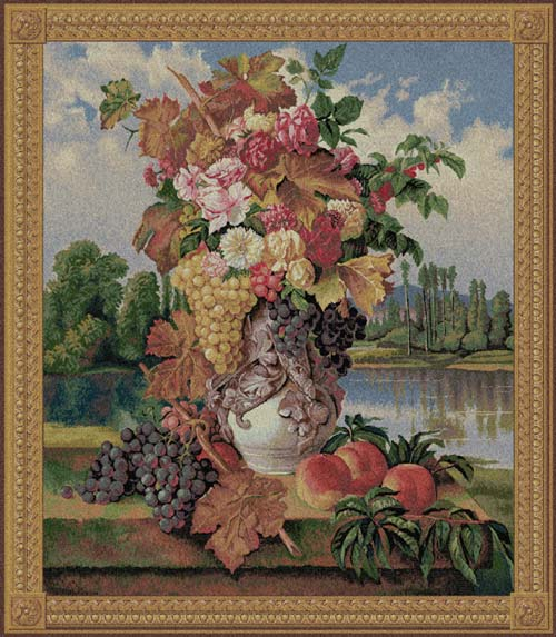 Floral Tapesty Wall Hanging Reflection, 44in X 38in