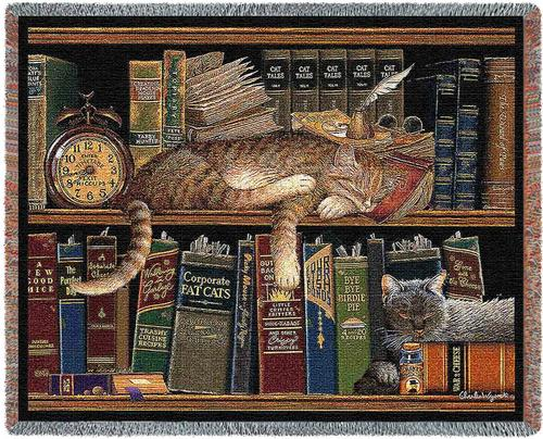 Remington The Well Read Tapestry Throw, 53in x 70in