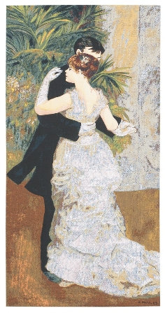 Renoir's Dance In The City Tapestry, 36in x 19in