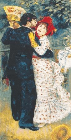 Renoir's Dance In The Country Tapestry, 36in x 19in