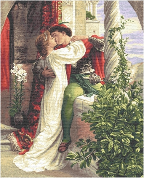 Romeo And Juliette II Tapestry, H43.2in x W28in