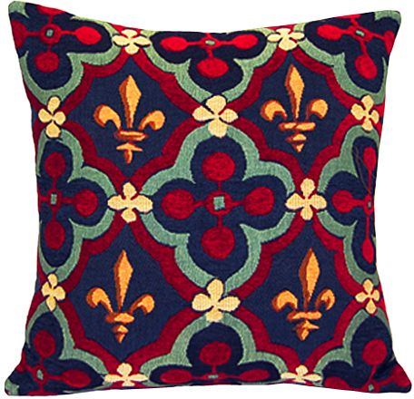 Rosace Tapestry Cushion Cover - European Home Decor Collection, 18in x 18in cushion cover