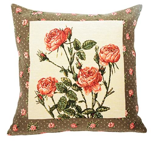 Rosae Tapestry Cushion Cover - European Home Decor Collection, 18in x 18in cushion cover