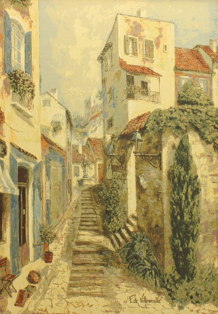 Rues De Provence Tapestry Wall Hanging, H40in x W56in